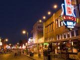 Famous Beale Street, Memphis, Tennessee, USA Fotodruck von Bill Bachmann