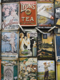Antique Enamelled Signs, Portobello Road Market, Notting Hill, London, England Photographic Print by Walter Bibikow