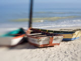 Boats Tied Up, Progresso, Yucatan, Mexico Photographic Print by Julie Eggers