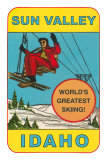 Sun Valley, Idaho, World&#39;s Greatest Skiing, Ski Lift Print