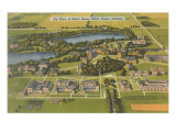 Aerial View of Notre Dame University, Indiana Prints
