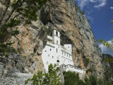 Ostrog Monastery Built into Mountain, Montenegro Photographic Print by Walter Bibikow