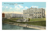 Library and Post Office, Des Moines, Iowa Print