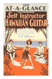 Hawaiian Guitar Instructions Posters