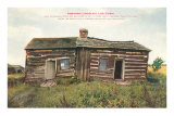 Lincoln Log Cabin Coles County, Illinois Prints