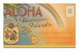 Aloha, Hawaiian Islands, Folder Prints