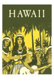 Hawaii, Hula Girls with Ukuleles Prints