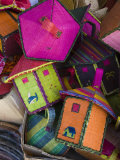 Reunion-made bags for sale, Covered Market, St-Paul, Reunion Island, France Photographic Print by Walter Bibikow