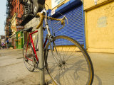 Bike Chained Up, Philadelphia, Pennsylvania, USA Photographic Print by Ellen Clark
