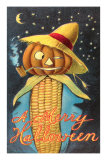 Merry Halloween, Corn Cob Creature Photo