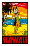 Hawaii, Hula Girl Prints
