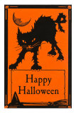 Happy Halloween, Black Cat Print