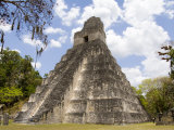 Tower 1, Mayan Ruins in the Gran Plaza, Tikal, Guatemala Photographic Print by Bill Bachmann