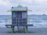 Miami Beach Lifeguard Shack, Miami Beach, Florida, USA Photographic Print by Walter Bibikow