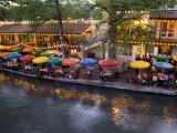 River Walk Restaurants and Cafes of Casa Rio, San Antonio, Texas Fotografie-Druck von Bill Bachmann