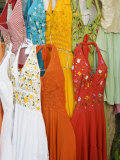 Dresses For Sale, Valladolid, Yucatan, Mexico Photographic Print by Julie Eggers
