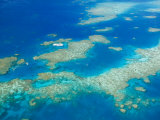 Aerial View of Moore Reef, The Great Barrier Reef, Cairns Area, North Coast, Queensland Photographic Print by Walter Bibikow