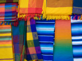Mayan Textiles For Sale, Valladolid, Yucatan, Mexico Photographic Print by Julie Eggers