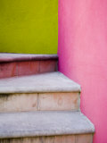 Stairs and Colorful Walls, San Miguel, Guanajuato State, Mexico Photographic Print by Julie Eggers
