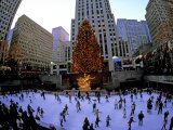 Rockafeller Center at Christmas, New York City, New York, USA Fotodruck von Bill Bachmann
