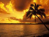 Colorful Sunrise in a Tropical Paradise, Kauai Hawaii, USA Photographic Print by Jerry Ginsberg