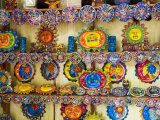 Colorful Crafts For Sale, Valladolid, Yucatan, Mexico Photographic Print by Julie Eggers