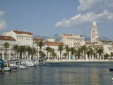 Split Harbor Late Afternoon, Central Dalmatia, Croatia Photographic Print by Walter Bibikow