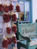 Traditional Ristras in Old Town Albuquerque, New Mexico, USA Photographic Print by Jerry Ginsberg