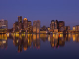 Financial District from East Boston, Massachusetts, USA Photographic Print by Walter Bibikow