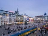 Trg Josip Jelacica Square, Zagreb, Croatia Photographic Print by Walter Bibikow