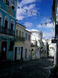 Ladeira Do Carmo Street, Pelourinho District, lvador Da Bahia, Brazil Photographic Print by Julie Bendlin