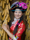 Mosu Minority Women in Traditional Ethnic Costume, China Photographic Print by Charles Crust