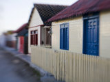 Houses in Coastal Fishing Village, San Felipe, Yucatan, Mexico Photographic Print by Julie Eggers