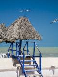 Steps Leading over the Seaside Boulevard, Progreso, Yucatan, Mexico Photographic Print by Julie Eggers