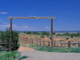 Ranch Entrance, Galisteo, New Mexico, USA Photographic Print by Julie Bendlin