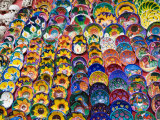 Pottery For Sale, Valladolid, Yucatan, Mexico Photographic Print by Julie Eggers