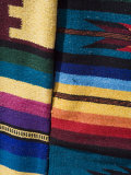 Colorful Blankets in the Artisans Market, Progreso, Yucatan, Mexico Photographic Print by Julie Eggers