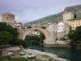 The Old Bridge Stari Most, Mostar, Bosnia-Hercegovia Photographic Print by Walter Bibikow