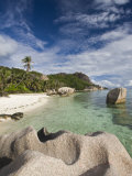 Anse Source D'Argent Beach, L'Union Estate Plantation, La Digue Island, Seychelles Photographic Print by Walter Bibikow