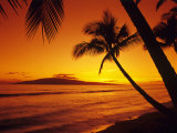 Colorful Sunset in a Tropical Paradise, Maui Hawaii, USA Photographic Print by Jerry Ginsberg
