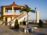 A Gazebo Along The Promenade, San Felipe, Yucatan, Mexico Photographic Print by Julie Eggers