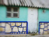 Houses in Coastal Fishing Village, San Felipe, Yucatan, Mexico Photographic Print by Julie Eggers