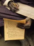 Student Copying the Koran, Djenne, Mali, West Africa Photographic Print by Ellen Clark