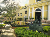 Grand Hotel El Convento and Plaza, Old San Juan, Puerto Rico Photographic Print by Ellen Clark