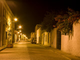 Street Scene at Night, Valladolid, Yucatan, Mexico Photographic Print by Julie Eggers