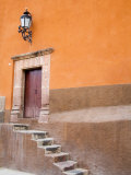 Stairs Leading In, San Miguel, Guanajuato State, Mexico Photographic Print by Julie Eggers