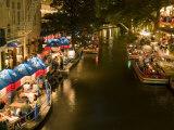 River Walk Restaurants and Cafes of Casa Rio, San Antonio, Texas Fotodruck von Bill Bachmann