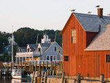 Rockport Harbor and Fishing Shack, Rock Port, Cape Ann, Massachusetts, USA Photographic Print by Walter Bibikow