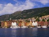 Bryggen Shopping District, Bergen, Norway Photographic Print by Michael DeFreitas