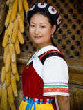 Naxi Minority Woman in Traditional Ethnic Costume, China Photographic Print by Charles Crust